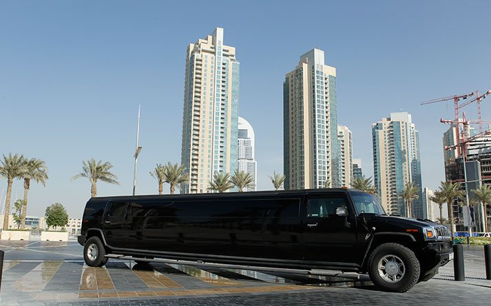 Hummer-H2-VIP-Black-front-and-side-view